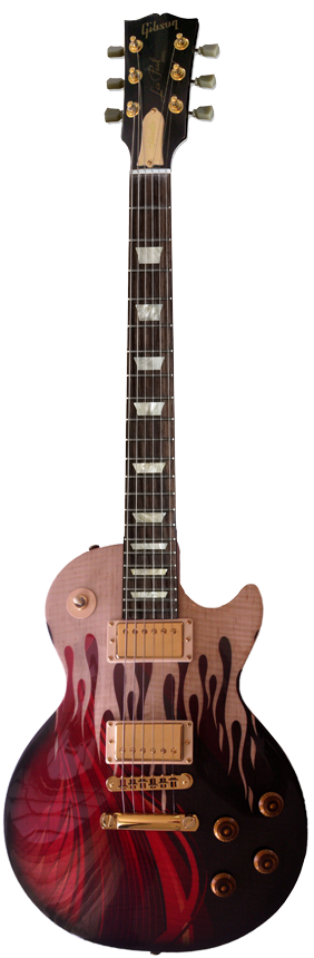 Les Paul Electric Helfire Flames